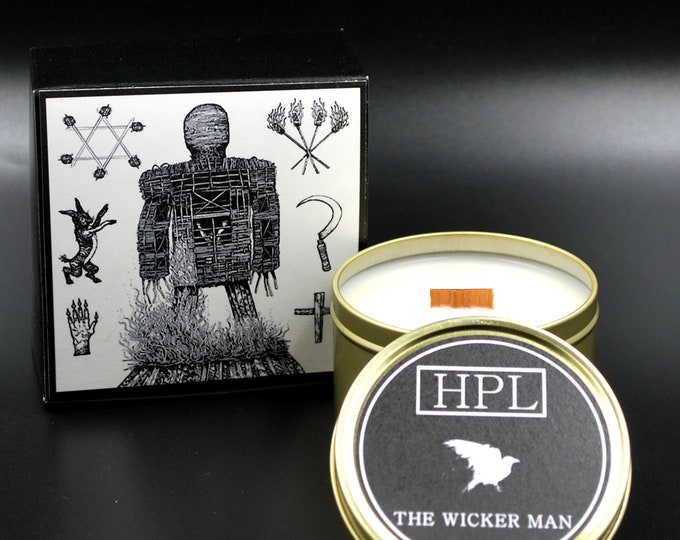The Wicker Man - Smokey Scented Candle |  Horror Haunted Candle | Vegan Friendly Candle |  Gothic Soy Candle
