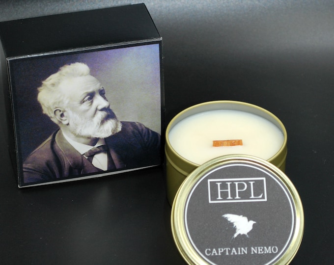 Captain Nemo -   Literary Writer Candle | Vegan Friendly Candle |  Horror Candle | Gothic Soy Candle