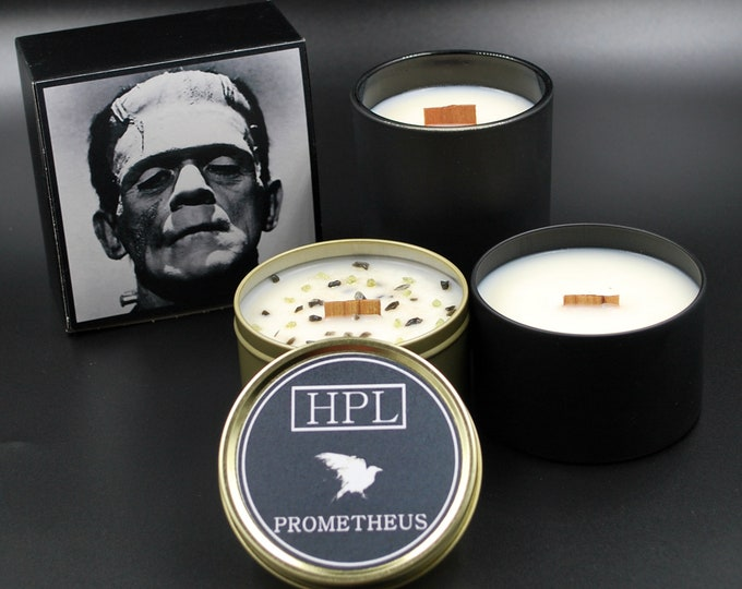 Prometheus -  Frankenstein Candle |  Horror Candle | Vegan Friendly Candle | Gothic Soy Candle