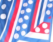 Love American Style - a vintage 1970's Vera Neumann Color Block Scarf