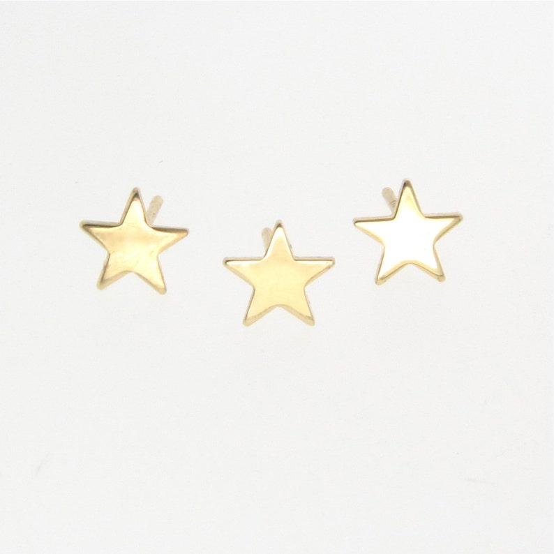 65b8e65c097 Gold Star Stud Earrings, Tiny 14k Yellow, Rose or White Gold Star Earring  Studs - Gold Post Earrings, Theresa Mink, Classic Designs on Etsy