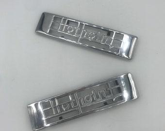 Vintage Brass Homart Automatic Water Heater Nameplate; Vintage Appliance Emblem; Vintage Appliance Badge
