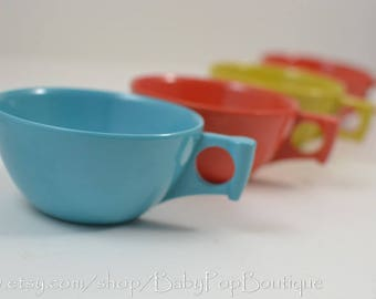 Melamine Vintage Stotter coffee cups Mid Centry Retro 4 in set