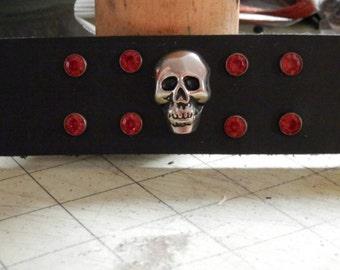Skull with Red Crstyals Wristcuff