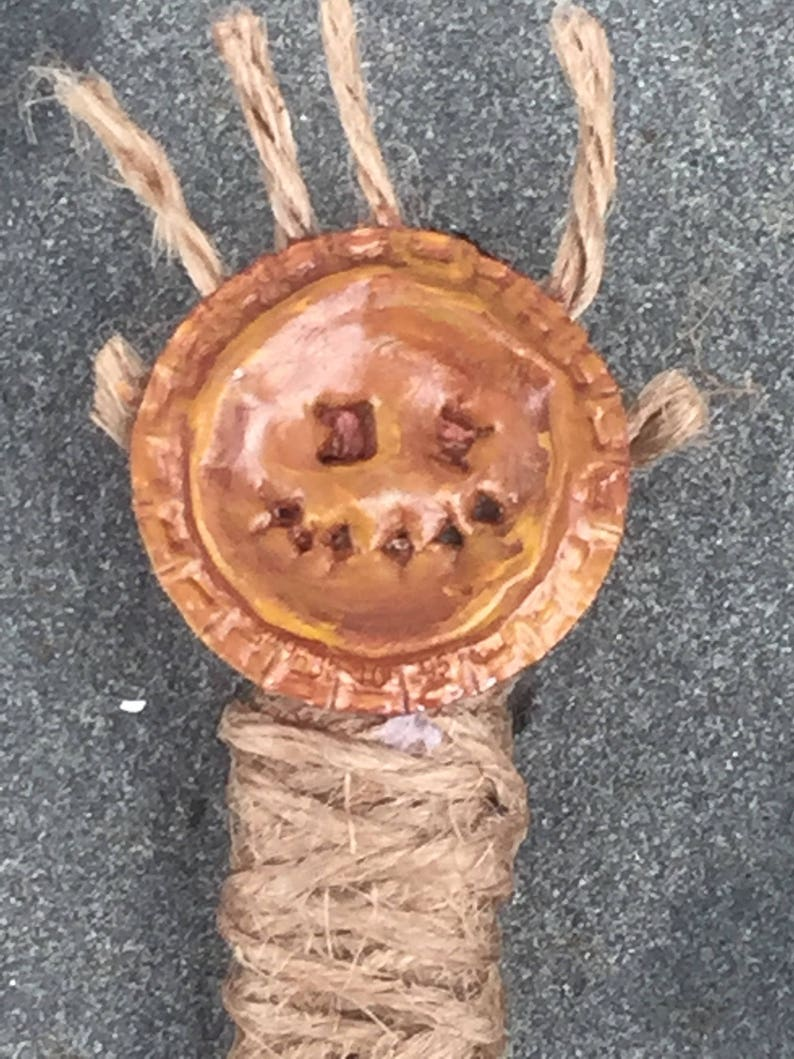 Post Apocalyptic Wasteland Witch Bane Totem Pin no. 1 image 0