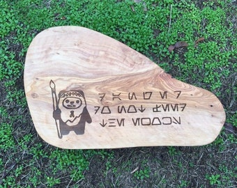 Star Wars Forest Moon Endor Wood cook's serving and cutting board #3