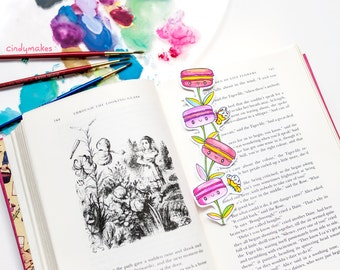 INSTANT DOWNLOAD – Macaron Garden Cute Whimsical Coloring Page & Bookmarks Set