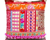 Ethnic Retro Patchwork Cushion / Pillow Cover - Stunning Unique OOak Art Pillow