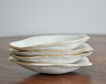 Tortoise Shell Ceramic Dish - Trinket Dish Ring Dish Porcelain Turtle Shell Plate