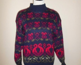 962d2b0a40c SALE Closing shop SALE Vintage Beautiful Sweater 80s acrylic wool mohair  womens women clothing clothes