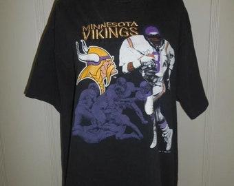 89f8e150a3d SALE Moving SALE Vintage 90s MINNESOTA Vikings 1993 Football Nfl tee t shirt  tee 90s
