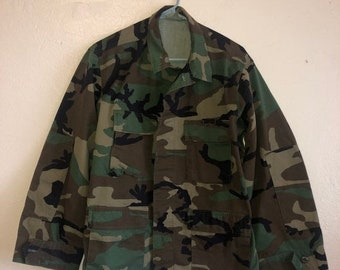 SALE Closing Shop SALE Vintage Camoflage  camo jacket military  grunge over sized   unisex