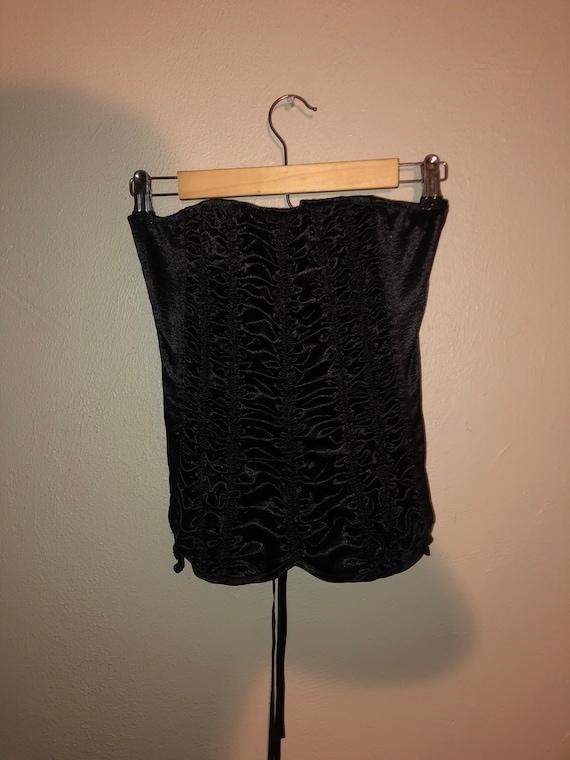 Black Bustier Corset Bra top size 32