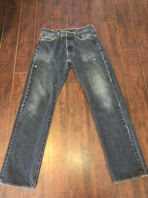 Levis 501 Levis jeans faded black button fly  W wa