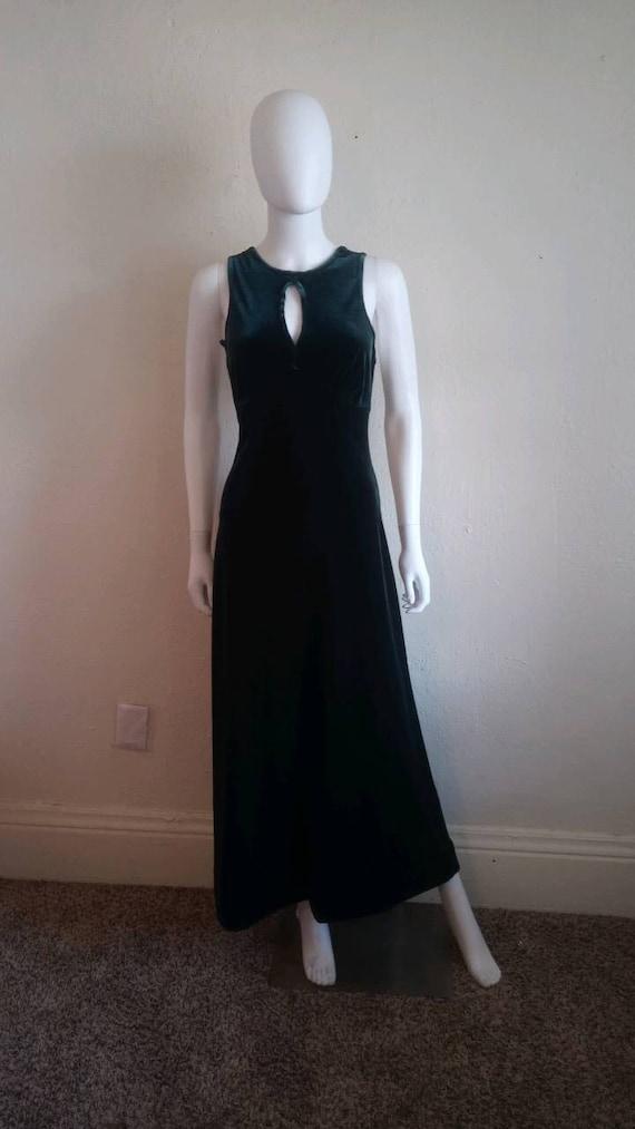 90s green velvet dress