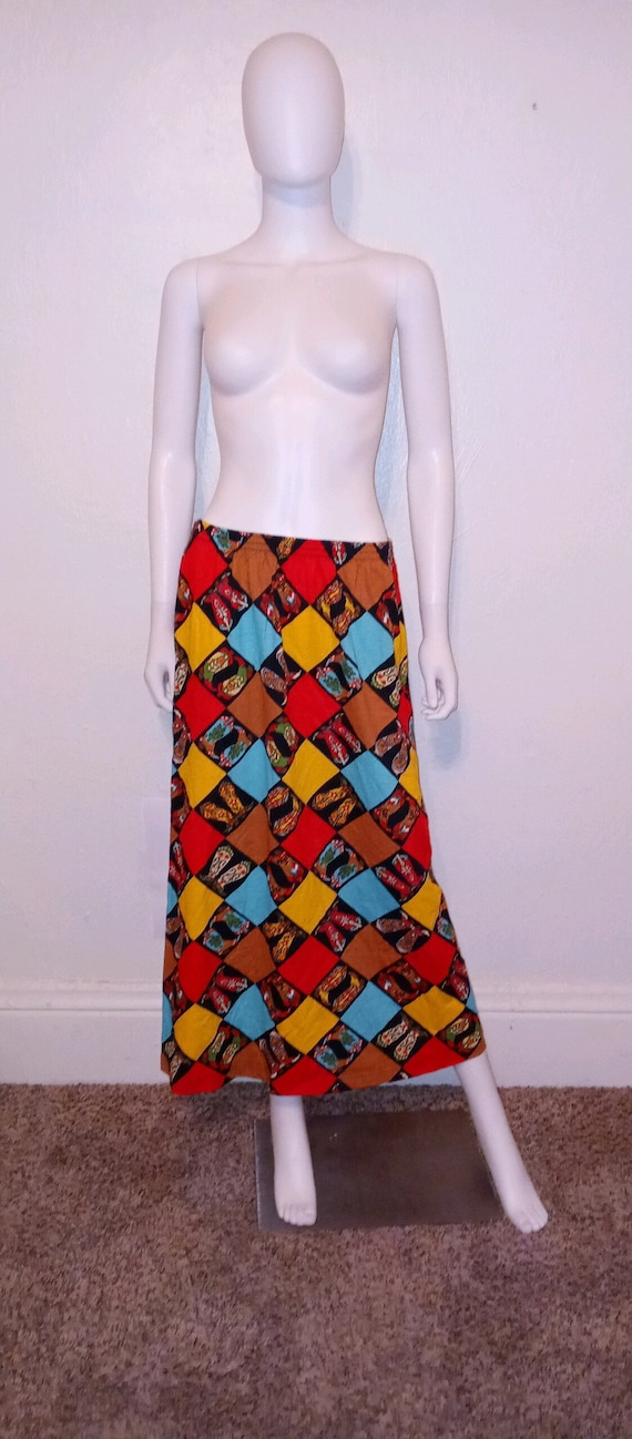 Country western boot long skirt