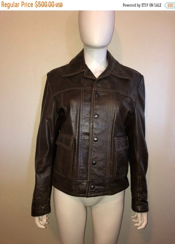 SALE SALE SALE Cooper Leather Jacket, leather brow