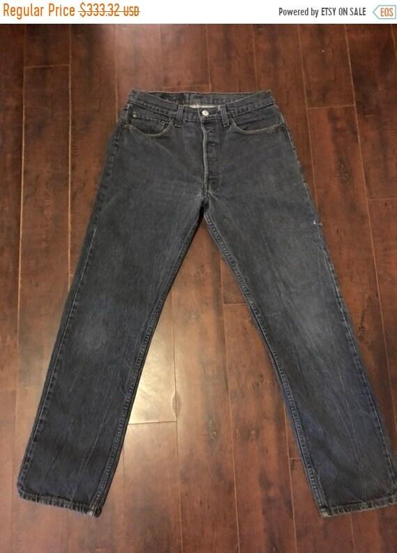 SALE SALE SALE Levis 501 Levis jeans black button… - image 1