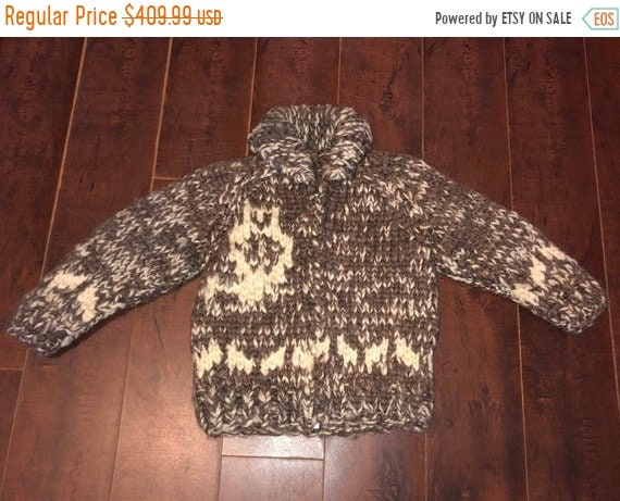 SALE Closing Shop SALE Cowichan Owl Cardigan Sweat