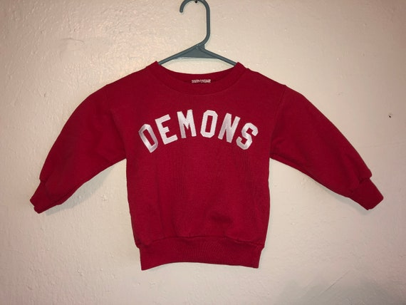Demons  vintage kids youth child children's  swea… - image 1