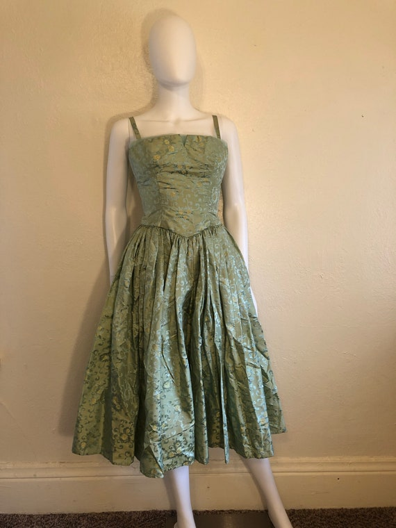 1950's 50's black dress