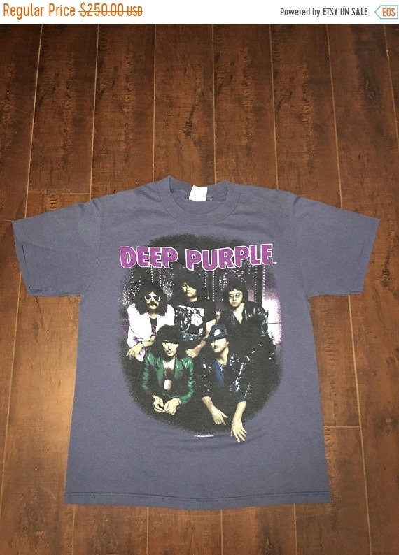 shirt DEEP 1987 Band Light of Off Closing House Blue 80s t The 50 SALE PURPLE Tour tZ7qCw