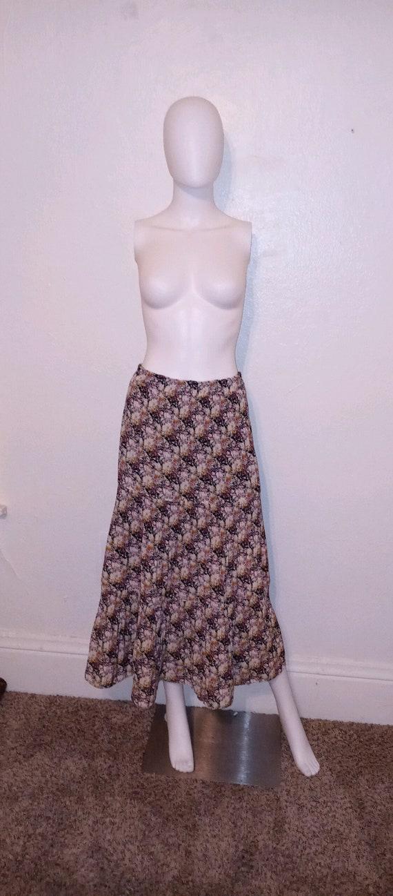 90s boho floral skirt