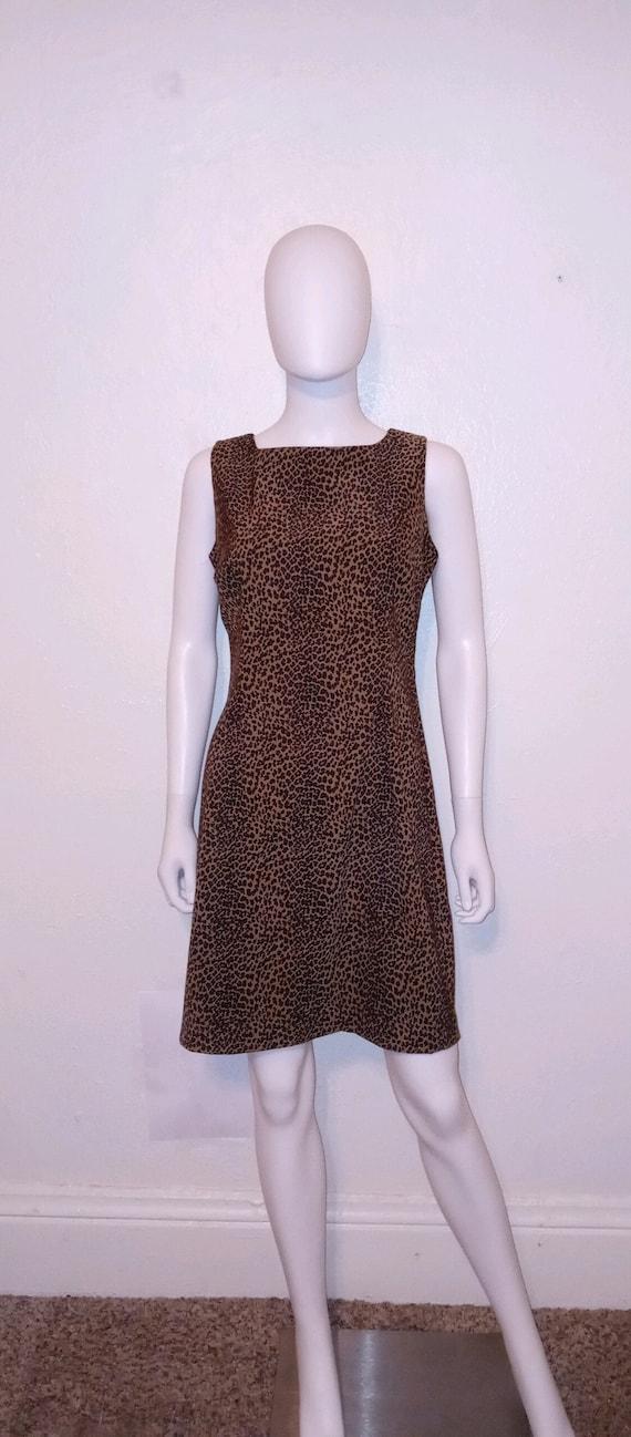 90s cheetah animal print short dress
