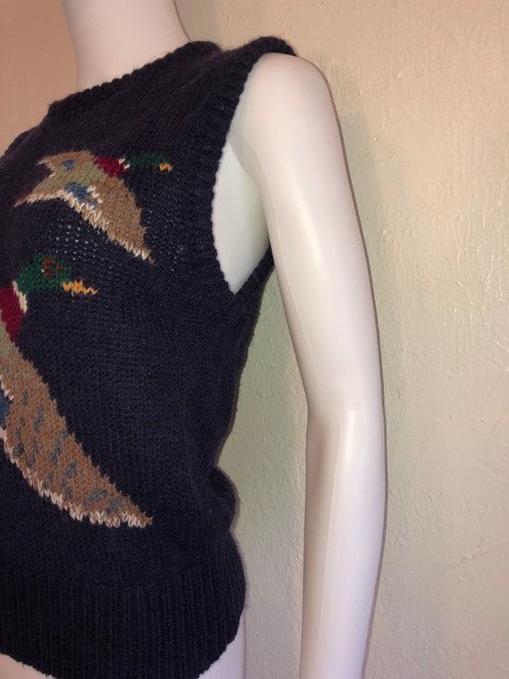Black Friday Cyber SALE Vintage sweater vest Ducks - image 4