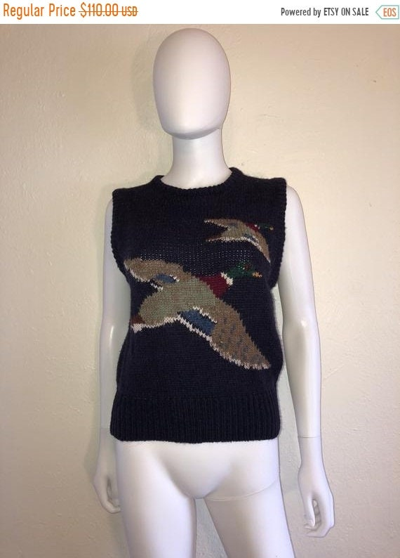 Black Friday Cyber SALE Vintage sweater vest Ducks - image 1