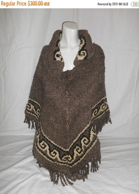 Vintage Cape Ethnic hand BEAUTIFUL Handmade coat Poncho woven px6vpqr