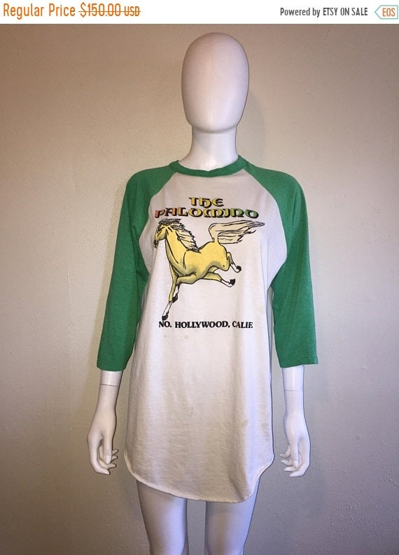 California SALE Palomino RARE ringer 70s baseball Club Rare Hollywood music 50 Closing shirt 80s Off tee XL t North The n1xEBR7