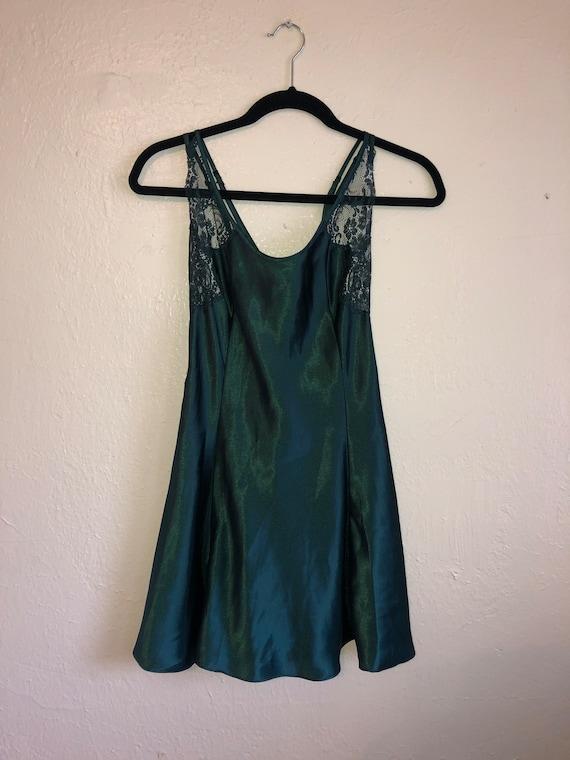 Silky lace green Negligee Nightie Lingerie  slip