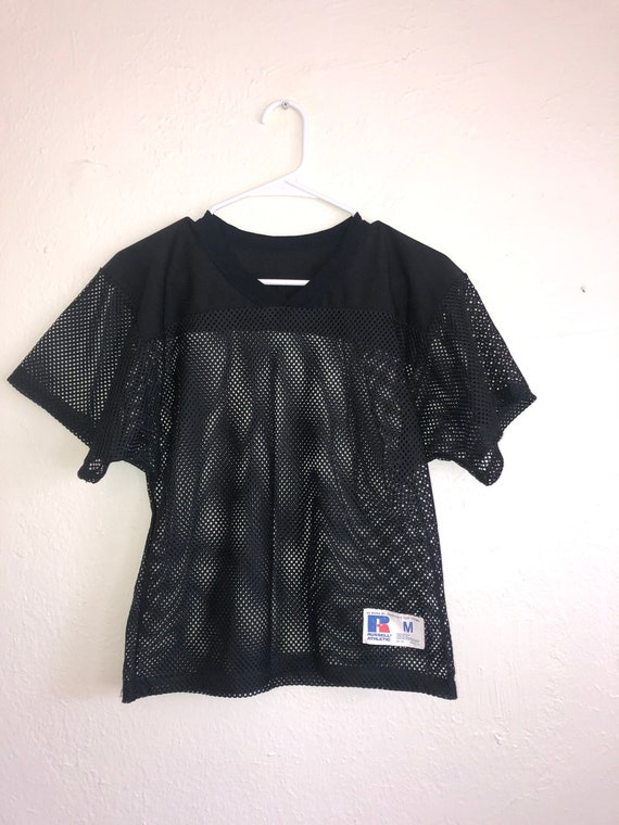 Black mesh jersey top shirt Medium  football jerse