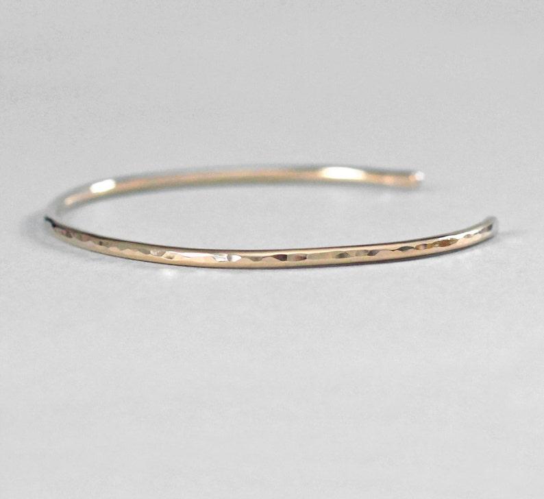 360045efa0c 14K Gold Bracelet Cuff Solid 14K Gold Bracelet for Women 14K | Etsy