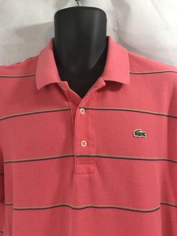 5661df45f VTG IZOD Lacoste Alligator Men s Polo Shirt SZ L 6 Melon