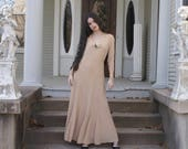BQ Blanche DuBois Vintage Nude Blush Dress Airy and Divine as found Evening Gown Boho Wedding Festival
