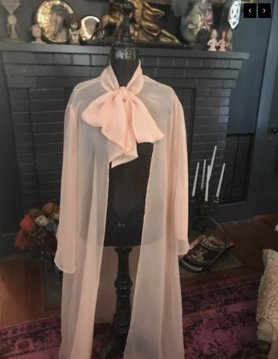 1950's Pussy Bow Tie  Ultra Sexy Lingerie Robe Jac