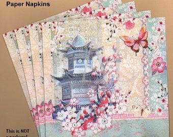 Pn045 Set Of 3 Paper Napkins By Michael Design Works 45 X Etsy