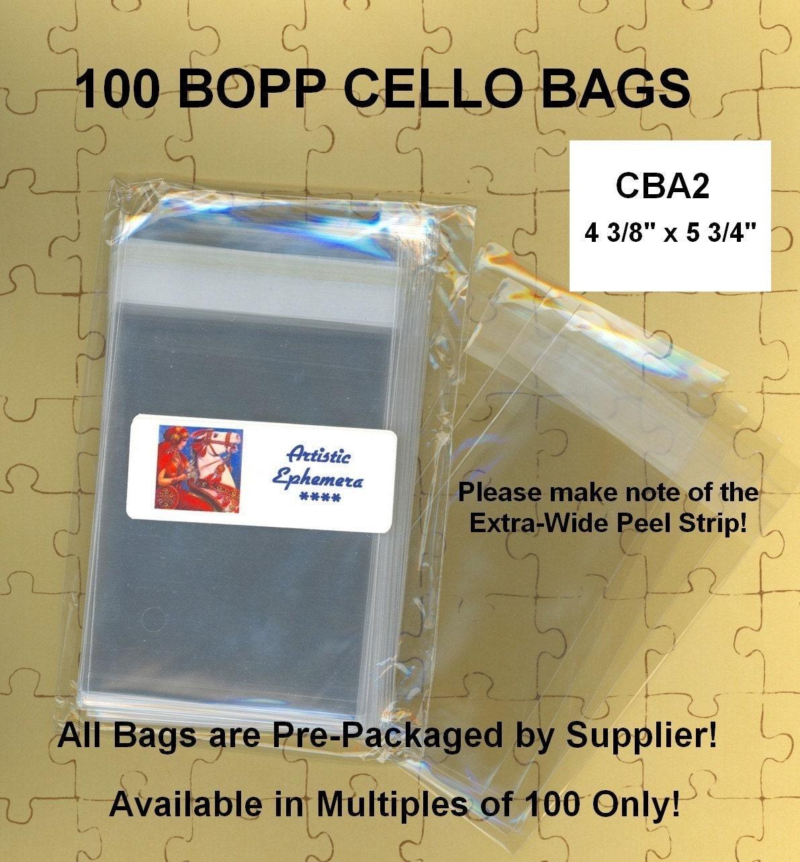 Cba2 100 Bopp Cello Bags 4 38 X 5 34 A2 Card Self Etsy