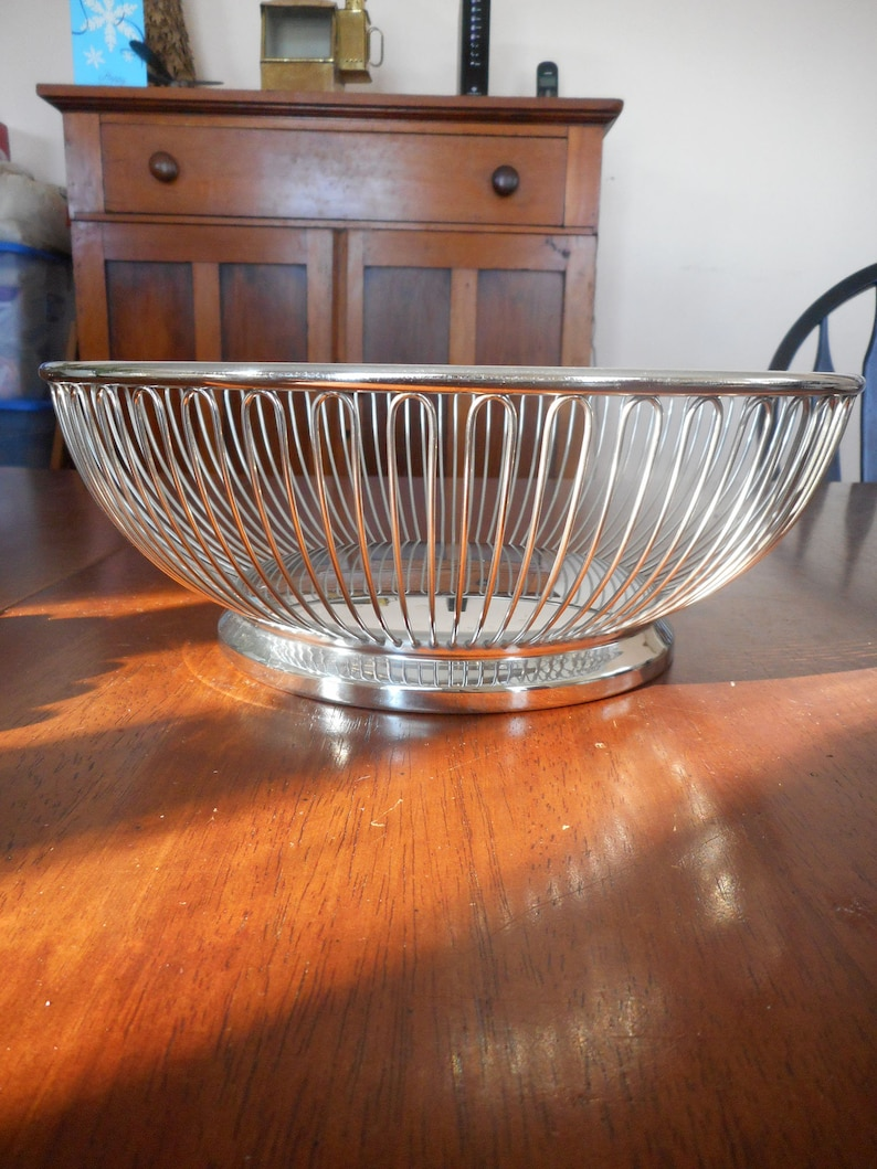 Vintage Silver Wire Bowl Estate find Made in Italy