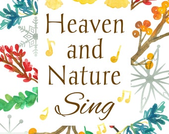 Christmas Heaven And Nature Sing Greeting Card Christian Religious