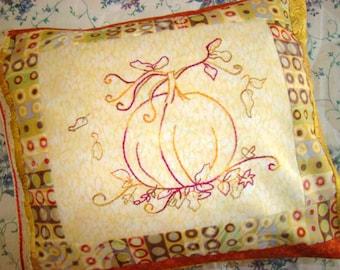 Pumpkin Hand Embroidery PDF Pattern Instant Digital Download Beginner
