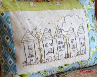 Cottage Houses Hand Embroidery PDF Pattern Instant Digital Download