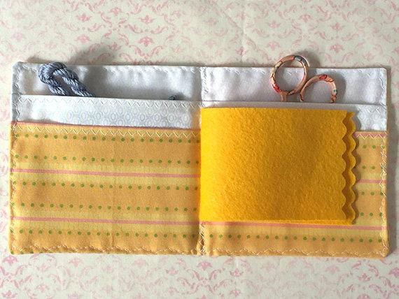 Pensées jaunes à à jaunes l'aiguille cas broderie soie Gift Set cc69f7