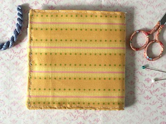Pensées jaunes jaunes Pensées à l'aiguille cas broderie soie Gift Set d6065b