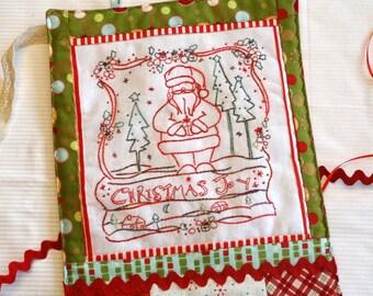 Christmas Joy Santa Hand Embroidery PDF Pattern Instant Digital Download
