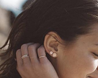 Stud Earrings   Diamond Dusted   Tiny Stud Earrings   Dainty Earrings   Sterling Silver   Gold   Rose Gold