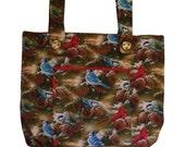 Winter Cardinal Walker Bag - Seasonal Walker Tote Caddy - Free US Shipping - Handmade Walker Bag for Mobility by Jean