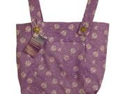 Spring Violet Walker Bag - Lavender Walker Tote Caddy - Free US Shipping - Handmade Walker Bag for Mobility by Jean